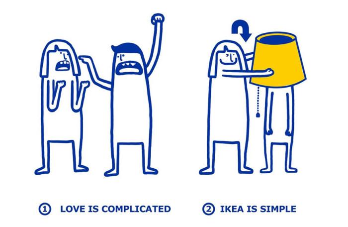 IKEA показала, как решаются любовные проблемы с помощью мебели