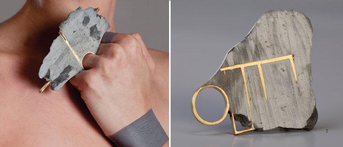 Noy Alon создает ювелирные изделия из латуни и эпоксидной шпаклевки