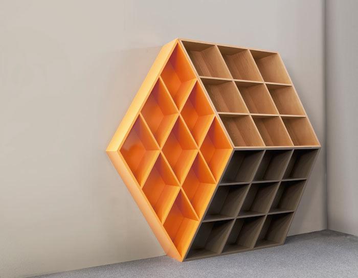 Rubika B601: книжный шкаф, вдохновленный кубиком Рубика