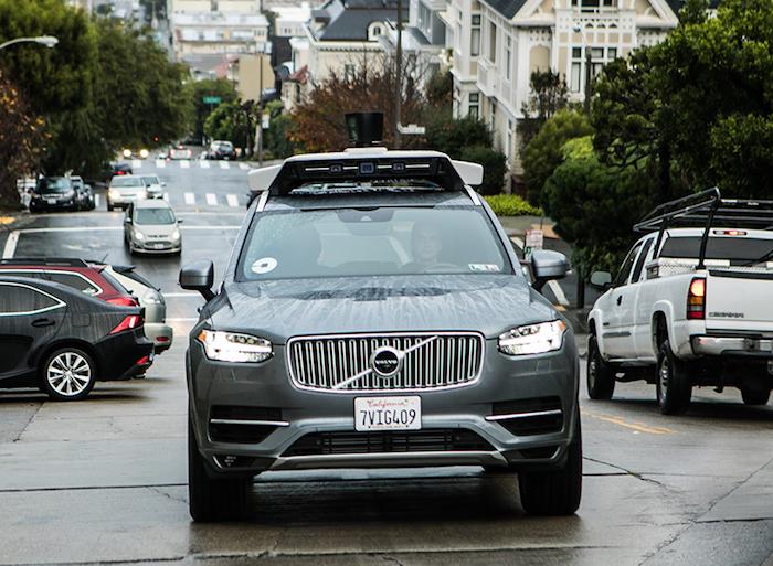 Uber и Volvo тестируют беспилотный автомобиль в Сан-Франциско