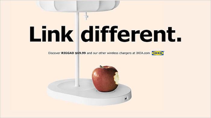 Креативная реклама IKEA: беспроводная зарядка для iPhone 8