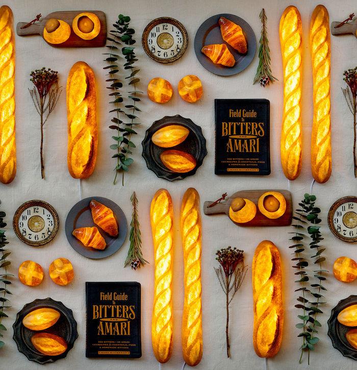 Светильники из хлеба от Yukiko Morita
