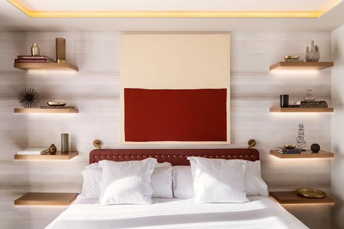 Идея дизайна для спальни: альтернатива прикроватным тумбочкам