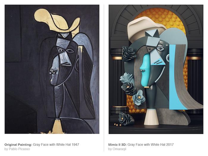 Mimic II: картины Пикассо в современной интерпретации