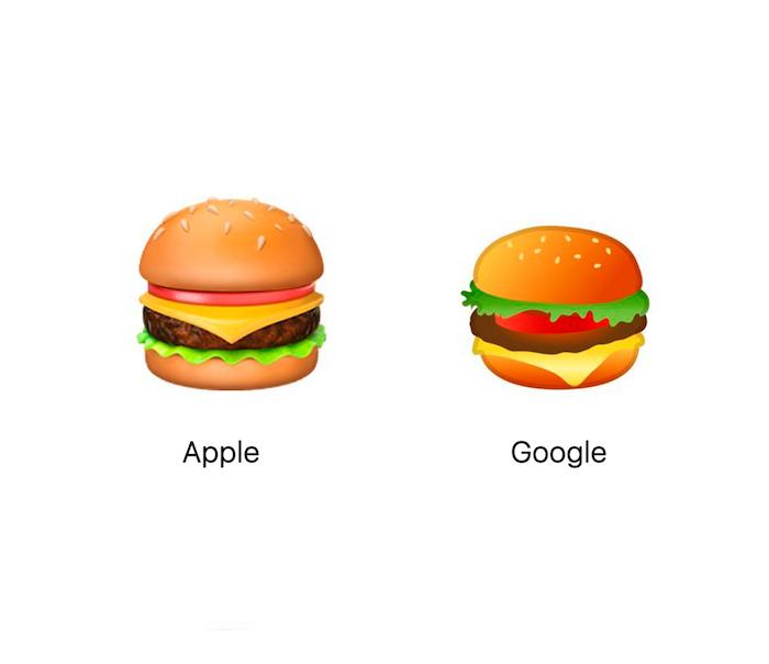 """Эмодзи """"чизбургер"""": Apple и Google спорят, где должен располагаться сыр"""