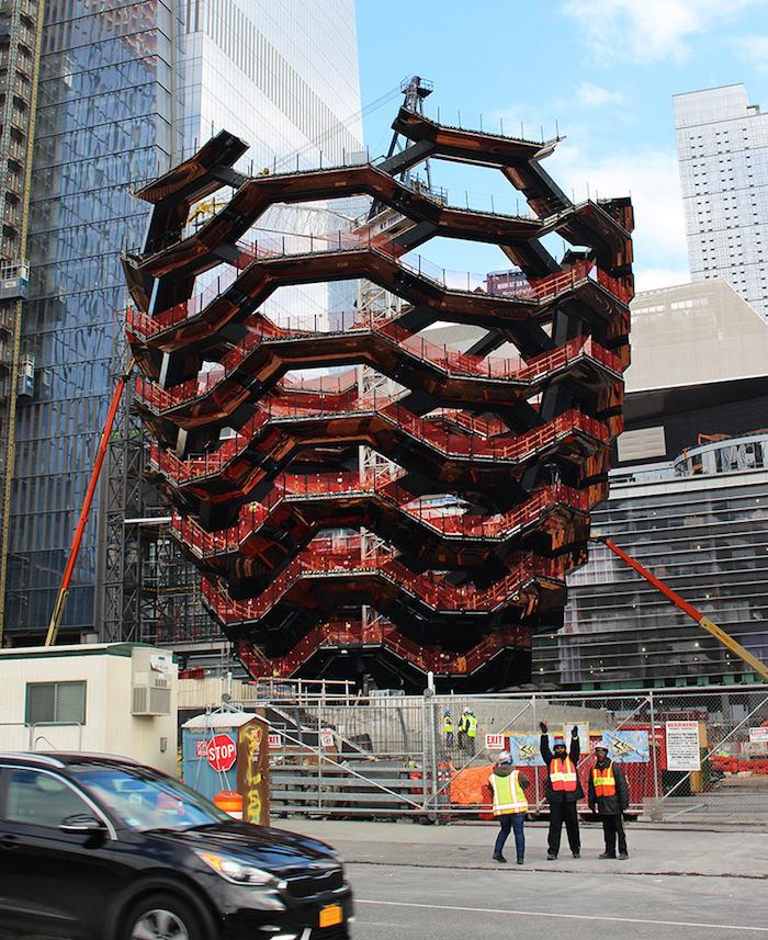 """Строительство """"Vessel"""" в Hudson Yards близится к завершению"""