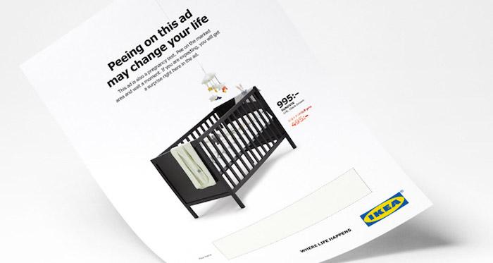 IKEA: тест на беременность прямо в журнале