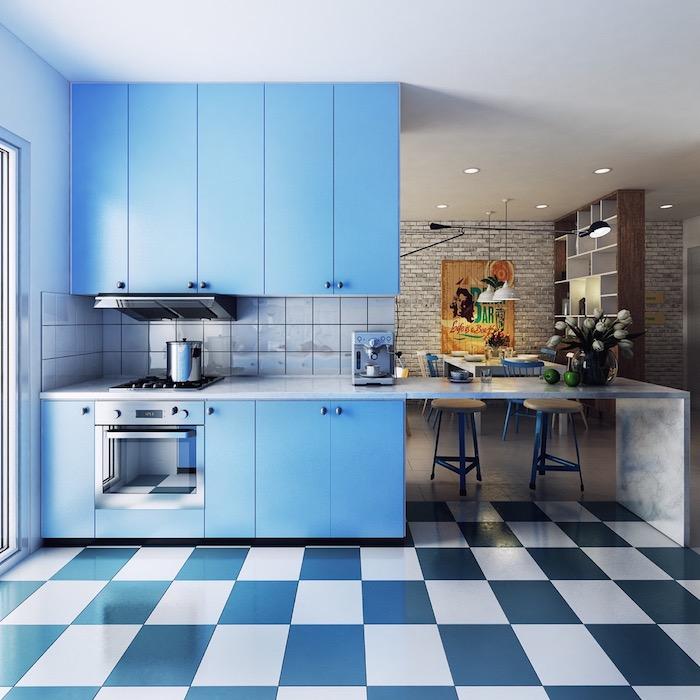 Кухня голубого цвета: 30 вдохновляющих примеров